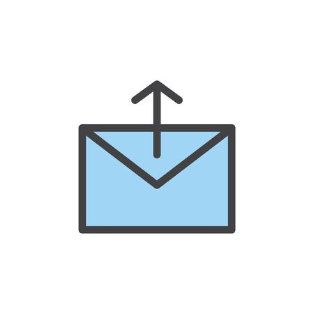 Illustration of mail icon Stok Fotoğraf - 95112683