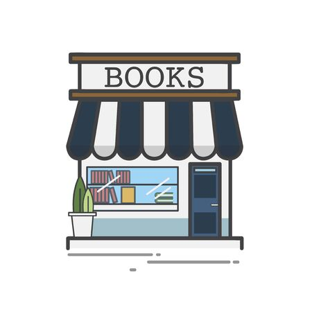 Illustration of books library shop 版權商用圖片