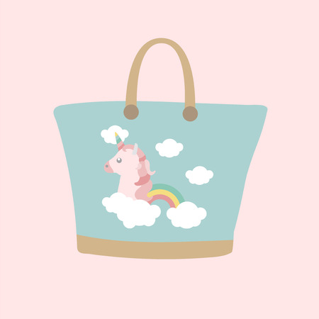 Handbag with unicorn