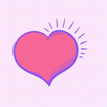 Heart shape illustration Stock Photo