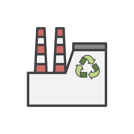 Illustration Satz von Umweltschutz Standard-Bild - 95112643