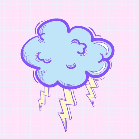 thunder cloud icon Standard-Bild - 95597947