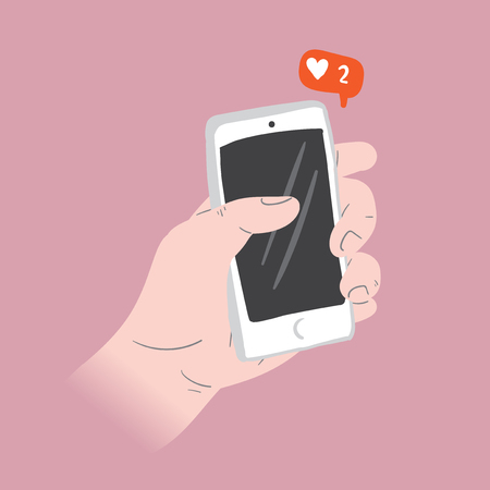 Liking Social Media Illustration Concept