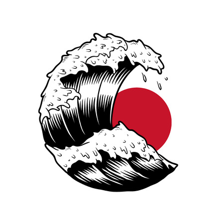 Japanese wave Stock fotó