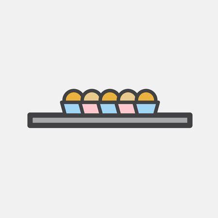 Illustration of baked products Stok Fotoğraf - 95597869