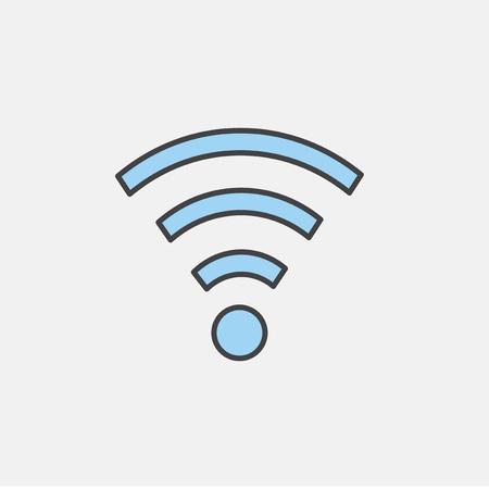 Illustration of wifi symbol Stok Fotoğraf