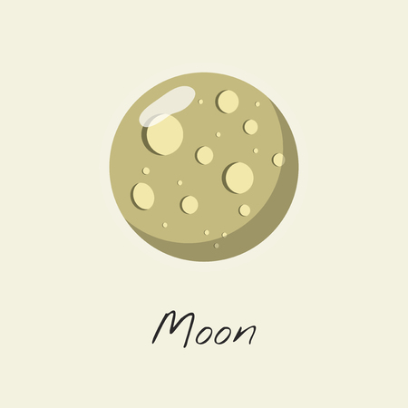 Illustration of a moon Stock Illustration - 115607900