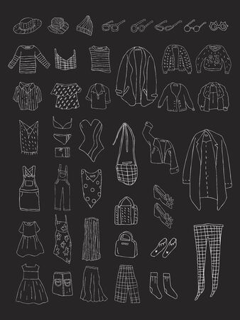 Illustration of different types of clothes 스톡 콘텐츠