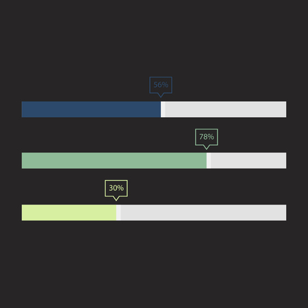 Progress chart concept Stok Fotoğraf