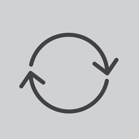 Circling arrow icon Stock Photo