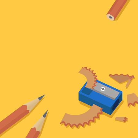 Bleistiftspitzer Standard-Bild - 95597589