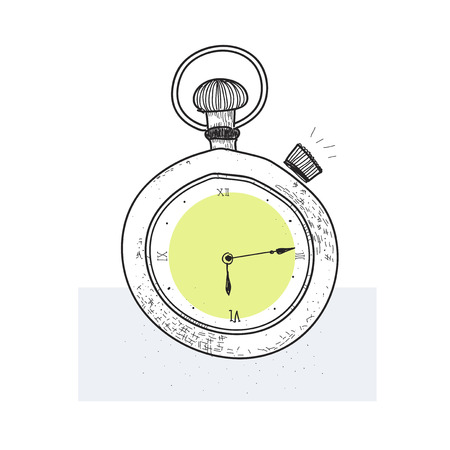 Illustration of a stopwatch Reklamní fotografie