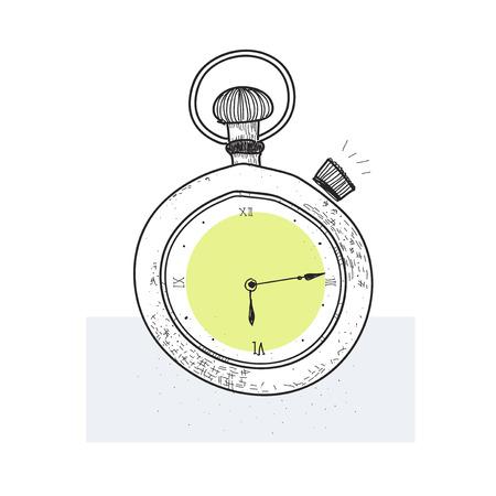 Illustration of a stopwatch Stock Photo