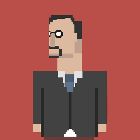 Pixelated businessman