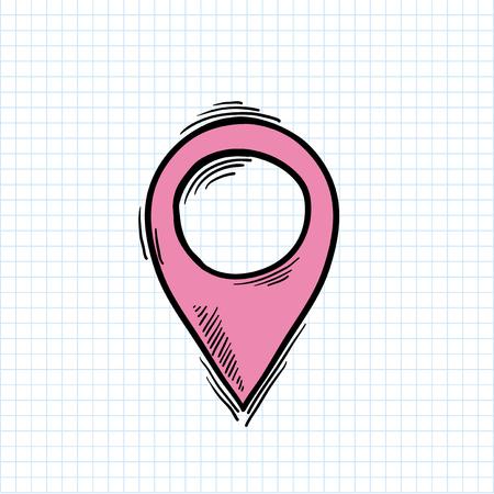 Illustration of location symbol isolated on background