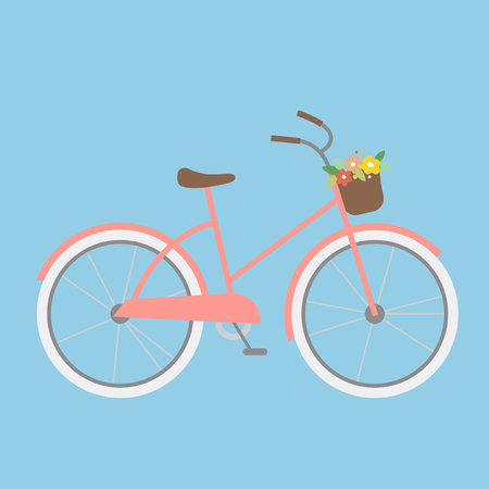 Illustration of a bicycle Stock Photo