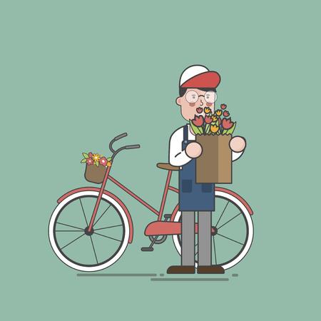 Illustration of flower shop Banco de Imagens - 95597354