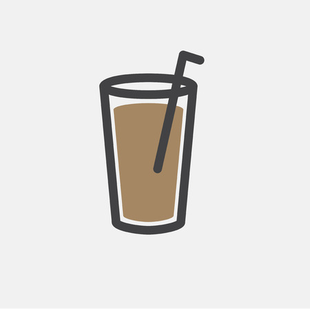 Illustration of cold drink icon