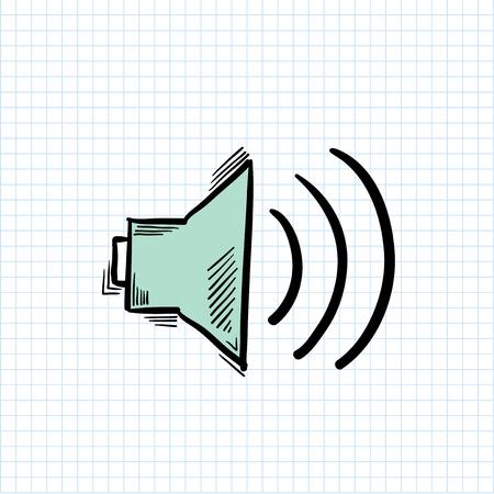 Illustration of speaker isolated on background 스톡 콘텐츠