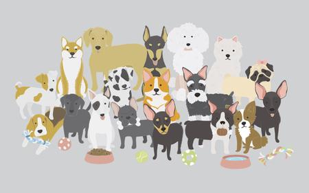 犬コレクションのイラスト