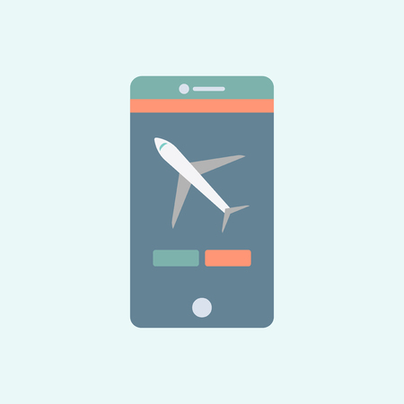 Flight mode on mobile phone concept