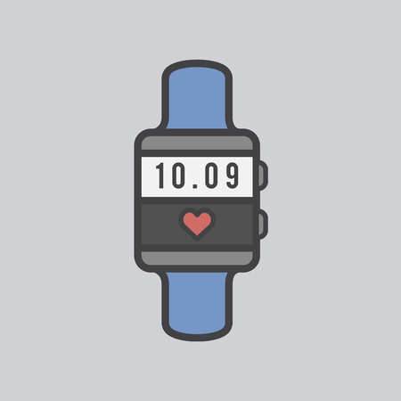 Smartwatch with heart rate monitor Imagens - 115607938