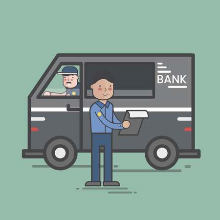 Bank security truck