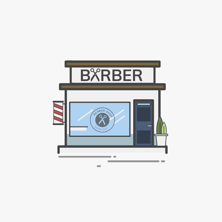 Illustration set of barber shop