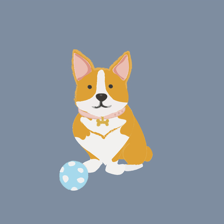 Pet dog with a toy Stock fotó