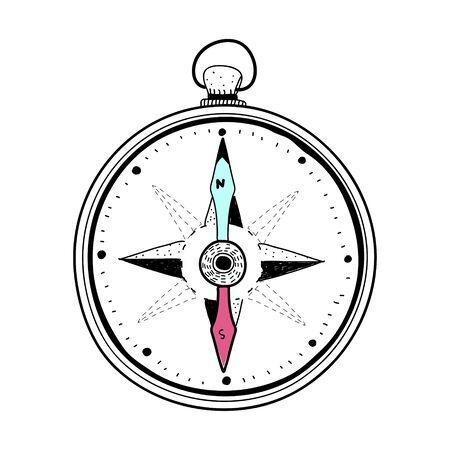 Doodle of compass Reklamní fotografie