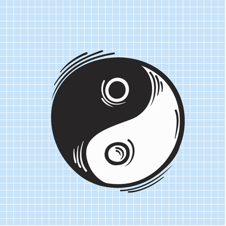 Illustration of yin yang icon
