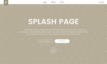 Illustration of website elements for web design Imagens