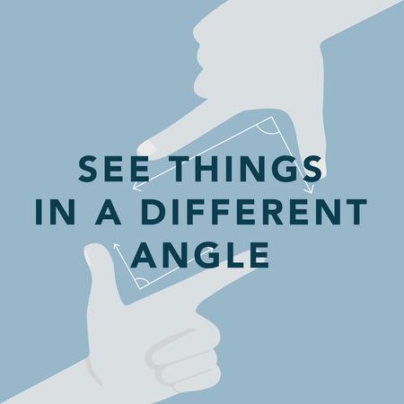 さまざまな角度のイラストを探索する 写真素材