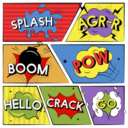 Collection of comic speech concept