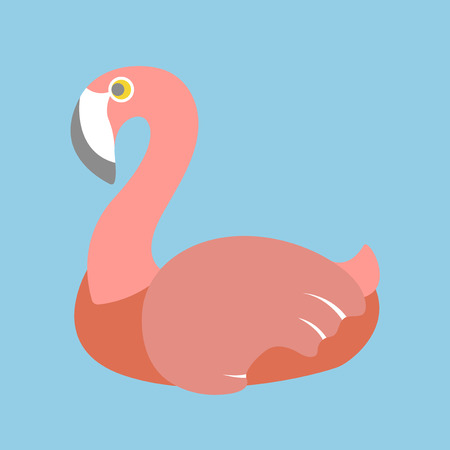 Illustration of a flamingo