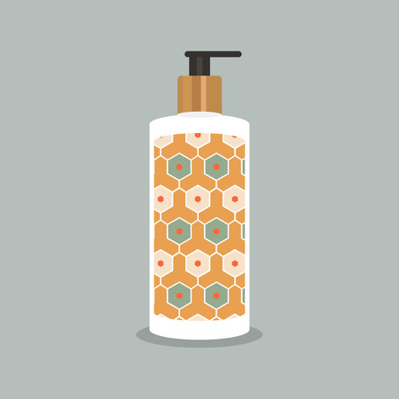 Product mock-up with vintage-inspired prints