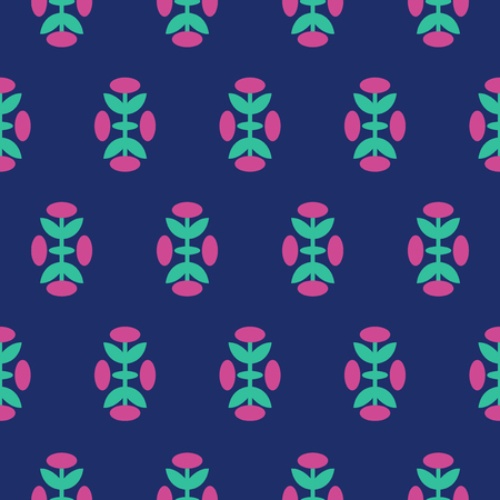 Vintage floral pattern inspired by The Grammar of Ornament