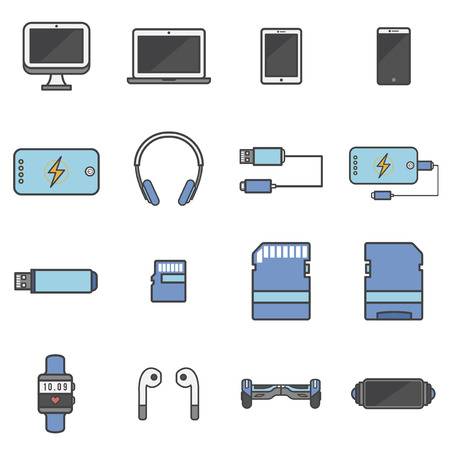 Technology items concept Imagens