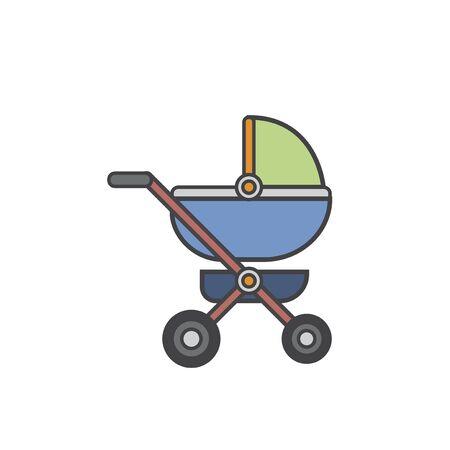 Illustration of Baby stroller Stock fotó - 95595808