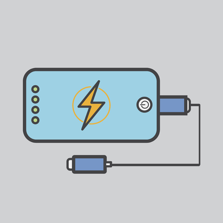Battery charging on mobile phone concept