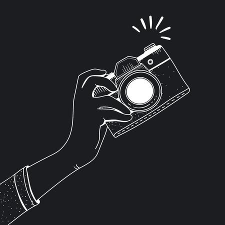 Illustration of vintage camera Zdjęcie Seryjne - 95595511