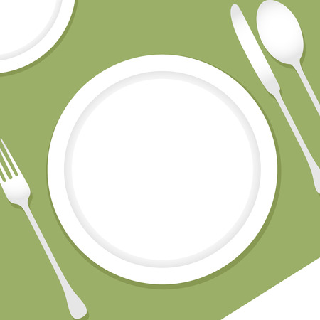 Table setting illustration Banque d'images - 95595503