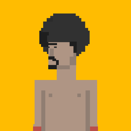 Pixelated boxer character