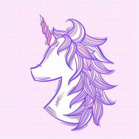 Illustration unicorn isolated on background Stok Fotoğraf