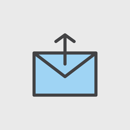 Illustration of mail icon Banque d'images - 95595443