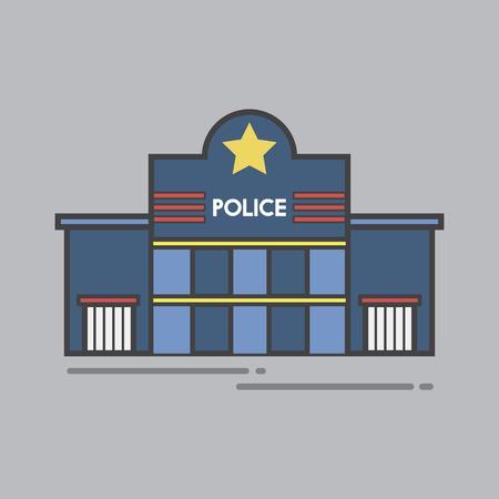 Illustration set of police station Stock Illustration - 95182901