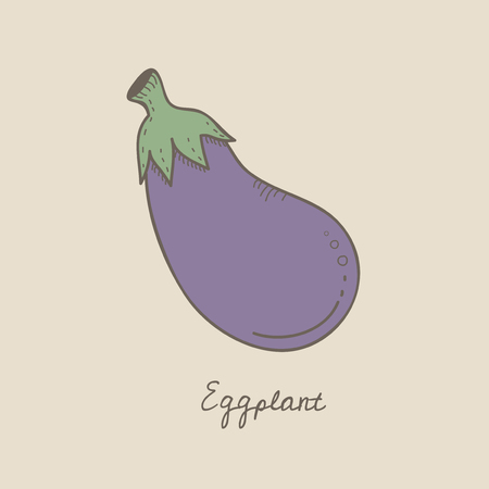 Illustration of an eggplant Stock Illustration - 95182849