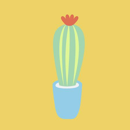 Cactus in a pot concept Stock Photo