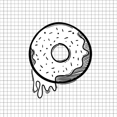 Illustration of doughnut icon 스톡 콘텐츠