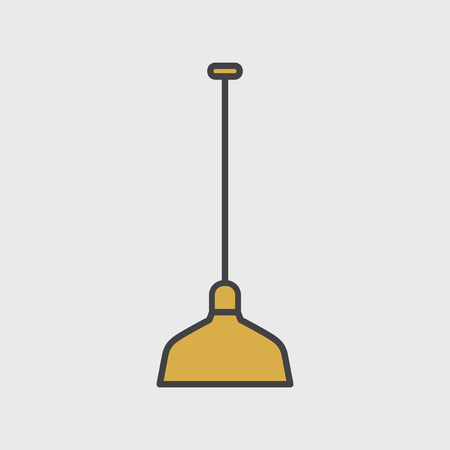 Illustration of lamp icon